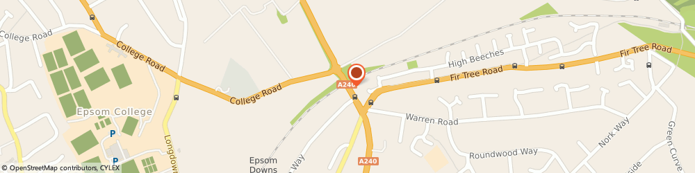 Route/map/directions to Care home in Epsom, KT18 5XA Epsom, 458 Reigate Road
