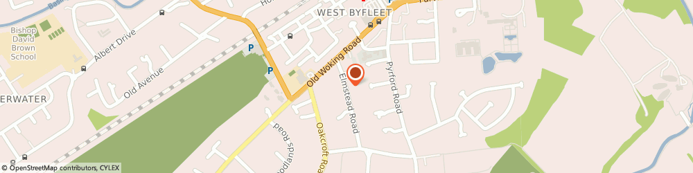 Route/map/directions to Institute Of Interim Management, KT14 6JB West Byfleet, DOLPHINS, ELMSTEAD ROAD
