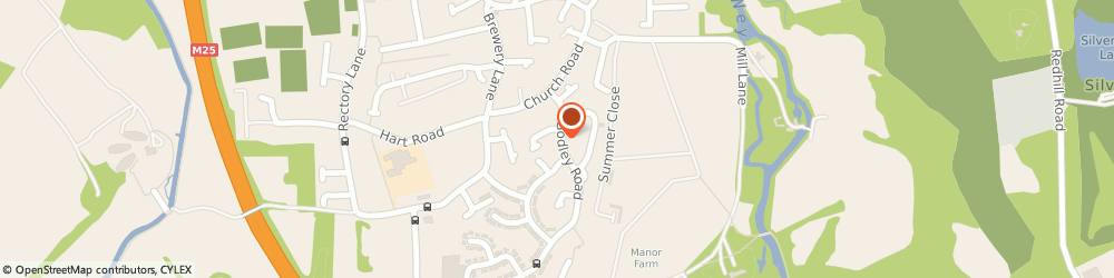 Route/map/directions to Above The Blue Limited West Byfleet, KT14 7EW Byfleet, 22 GODLEY ROAD
