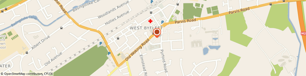 Route/map/directions to Sean Veck, KT14 6LF West Byfleet, THE CLINIC, HEALTH MATTERS, 61 OLD WOKING ROAD