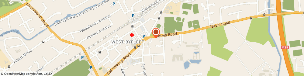 Route/map/directions to Nandini's Bar & Dining, KT14 6LP West Byfleet, 2-3 Parvis Road