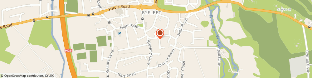 Route/map/directions to Post Office Limited, KT14 7RD Byfleet, 136 High Road
