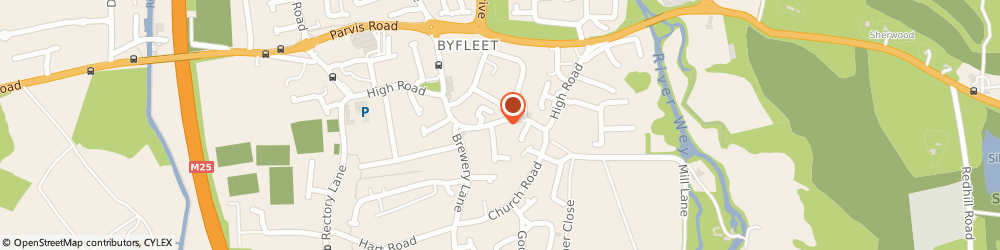 Route/map/directions to The Beauty Lounge, KT14 7RG Byfleet, 154 High Road