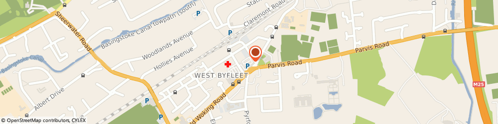Route/map/directions to Haweli, KT14 6NU West Byfleet, 6 Old Woking Rd