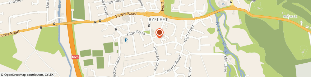 Route/map/directions to Seear Products Ltd, KT14 7PP Byfleet, 7 MELVILLE CT BINFIELD RD, W