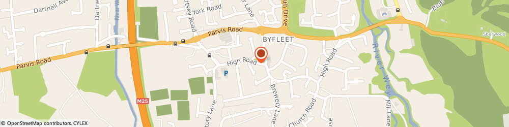 Route/map/directions to The Nail Corridor, KT14 7QT Byfleet, 94A HIGH ROAD