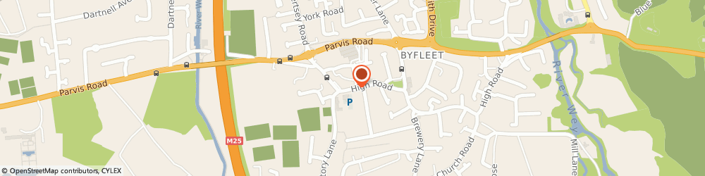 Route/map/directions to Rajput Indian Cuisine, KT14 7QL Byfleet, 70 High Road
