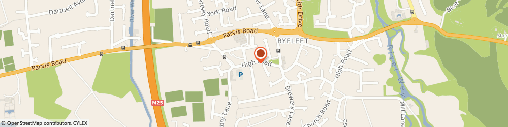 Route/map/directions to G & I Meats, KT14 7QW Byfleet, 78 High Road