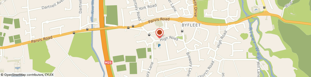 Route/map/directions to High Road Veterinary Surgery, KT14 7QH Byfleet, 29 HIGH ROAD