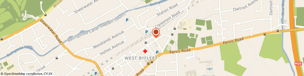 Route/map/directions to T P I Gallery, KT14 6NF West Byfleet, 32 Station Approach