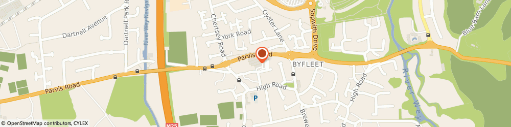 Route/map/directions to Vets4Pets, KT14 7NP Byfleet, Wey Retail Park Parvis Road