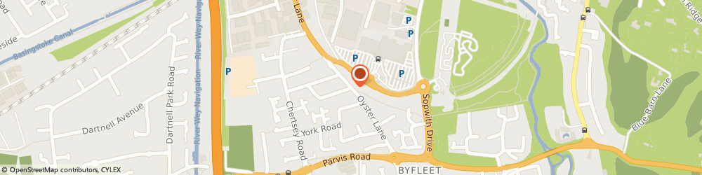 Route/map/directions to Oyster Lane Murco Service Station Byfleet, KT14 7JH Byfleet, OYSTER LANE