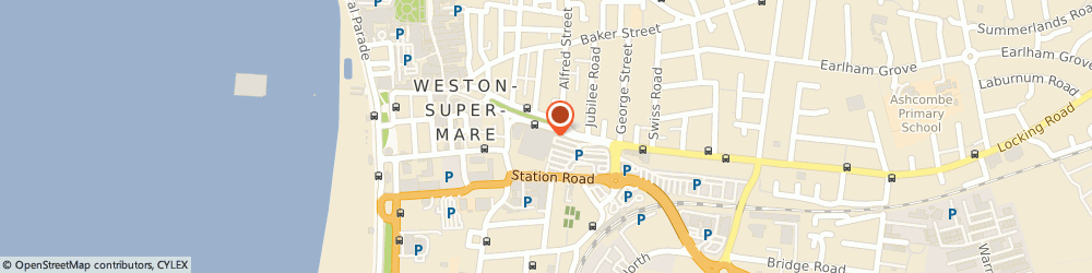 Route/map/directions to Tesco Superstore, BS23 1XG Weston-Super-Mare, Station Rd