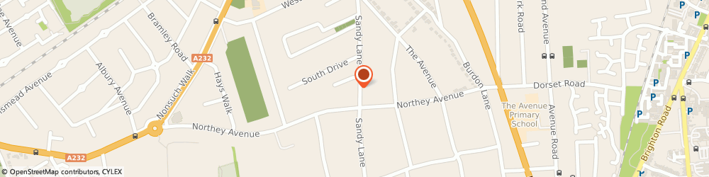 Route/map/directions to Hamer Consulting Ltd, SM2 7EN Sutton, 62 SANDY LANE