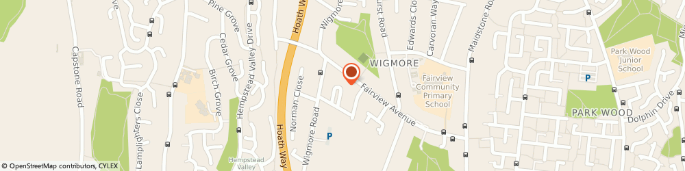 Route/map/directions to Landhire Limited, ME8 0TB Gillingham, 7 Clematis Avenue, Wigmore