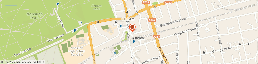 Route/map/directions to PROLOG SYSTEMS LTD., SM3 8SW Sutton, CENTURY HOUSE, STATION WAY