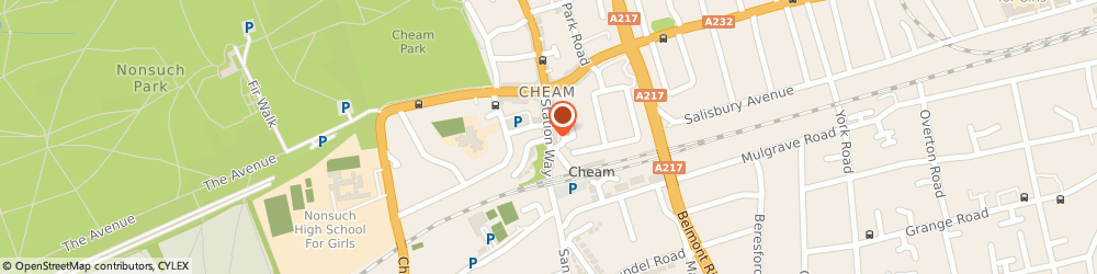 Route/map/directions to CINNAMON (UK) LTD, SM3 8SW Sutton, CENTURY HOUSE, STATION WAY