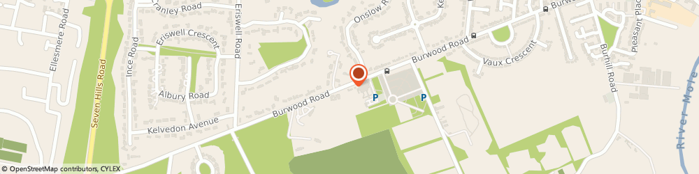 Route/map/directions to Burvale House, KT12 4AT Hersham, 165 Burwood Rd