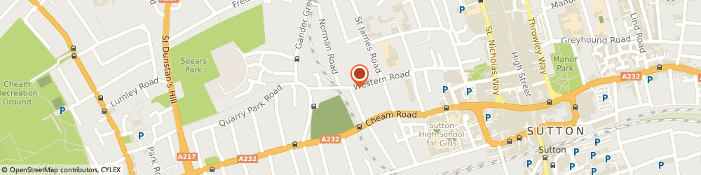 Route/map/directions to A1 Roofing Sutton, SM1 2GT Sutton, 19 Western Road