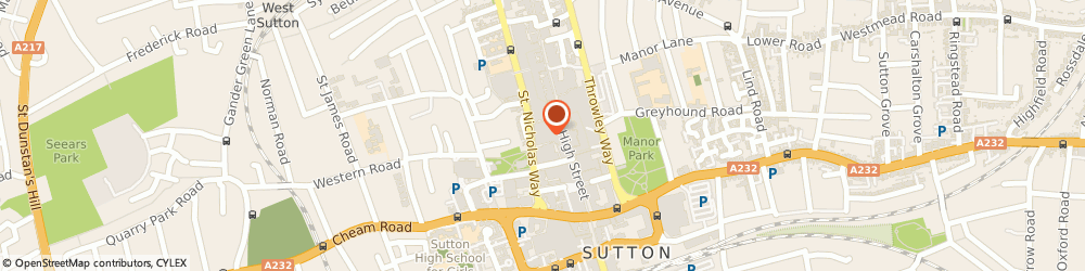 Route/map/directions to Boots Sutton High Street, SM1 1JG Sutton, 109-111 High St