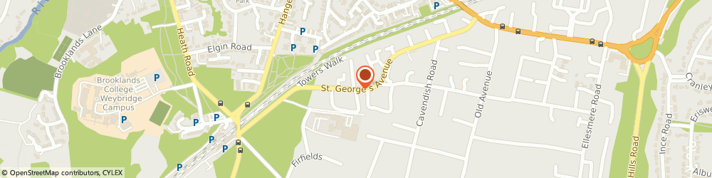 Route/map/directions to Heath Lodge, KT13 0DA Weybridge, St. Georges Avenue