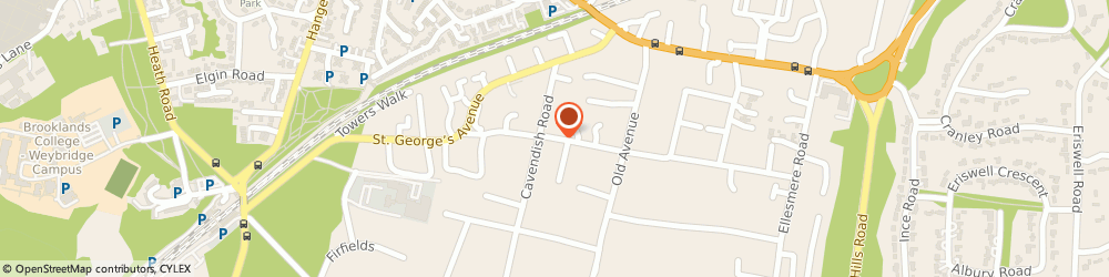 Route/map/directions to Jands Trading Limited, KT13 0PW Weybridge, Egerton Rd