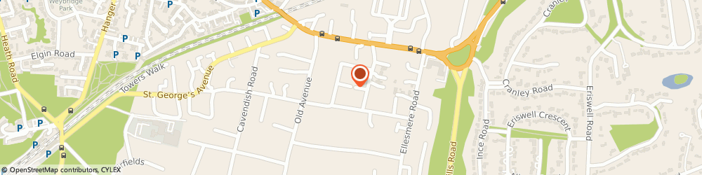Route/map/directions to Lizzy Wicks Therapy, KT13 0EP Weybridge, Hope Cottage St. Georges Rd