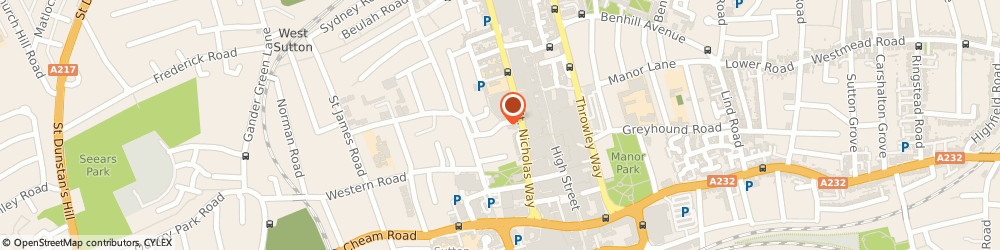 Route/map/directions to Rothmans Chartered Accountants Sutton, SM1 1SH Sutton, Trinity Court, 34 West Street