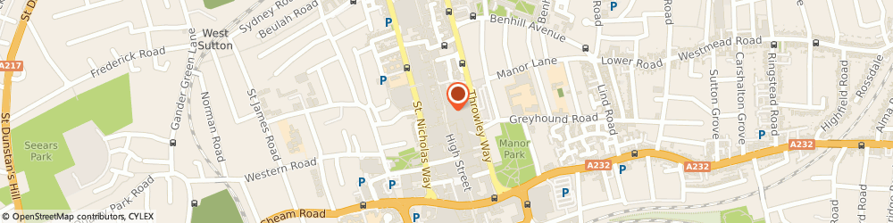 Route/map/directions to HSBC Bank, SM1 1DU Sutton, 75-77 High Street