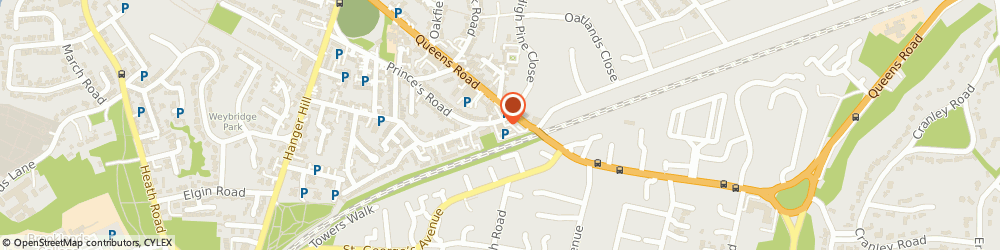 Route/map/directions to Glass S Information Services Ltd, KT13 9TU Weybridge, 1 Princes Road