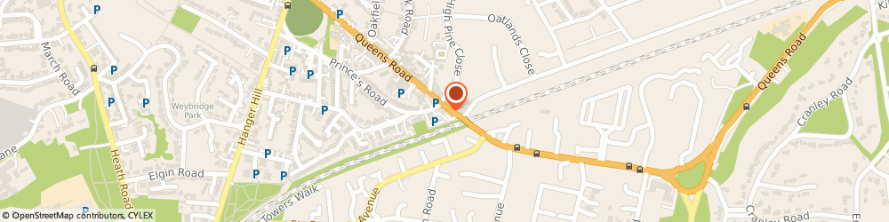 Route/map/directions to Trident Mg Rover Ottershaw, KT13 9UZ Weybridge, 30 Queens Road