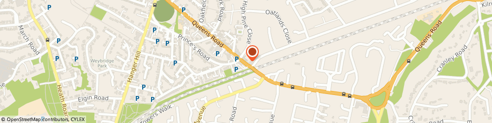 Route/map/directions to Pole Position, KT13 9UN Weybridge, 125A Queens Rd
