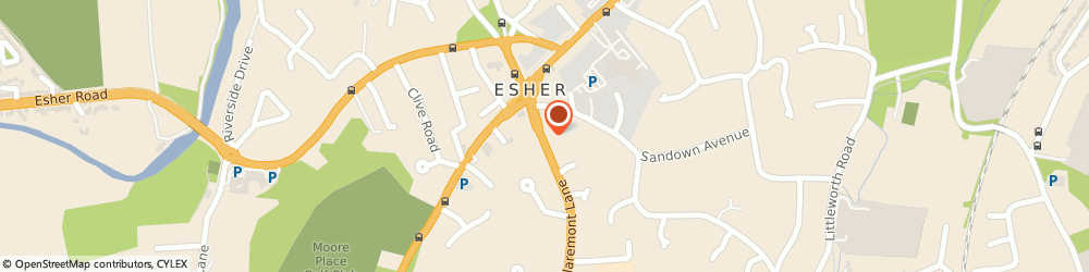 Route/map/directions to Esher Quaker Meeting, KT10 9DP Esher, 3 Claremont Lane