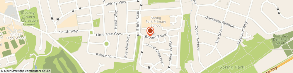 Route/map/directions to Spring Park Medical Practice, CR0 8NG Croydon, 23 Broom Road