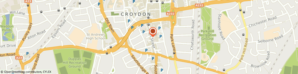 Route/map/directions to Revive Drives, CR9 1DF Croydon, HIGH STREET, MADISON HOUSE, UNIT 226