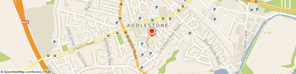 Route/map/directions to Marriage Care, KT15 2NJ Addlestone, Garfield Road