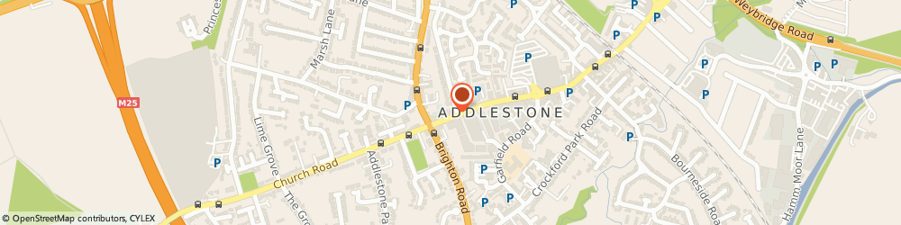 Route/map/directions to THAMES VALLEY HIRE SERVICES LIMITED, KT15 2AL Addlestone, 19 Station Road