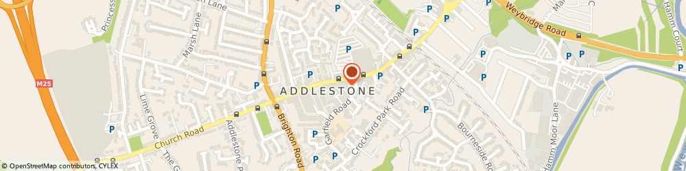Route/map/directions to Harfords, KT15 2AD Addlestone, 96 STATION RD