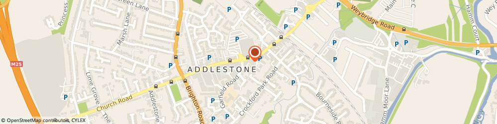 Route/map/directions to Addlestone Hardware & Motor Parts, KT15 2BQ Addlestone, 102 STATION RD