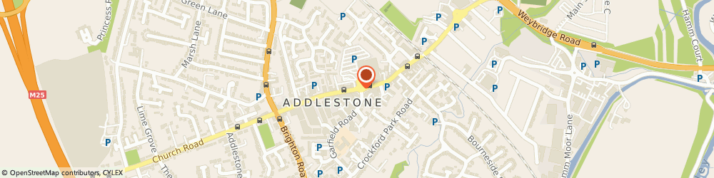 Route/map/directions to Addlestone Pet & Garden Supplies, KT15 2BA Addlestone, 159-161 Station Rd