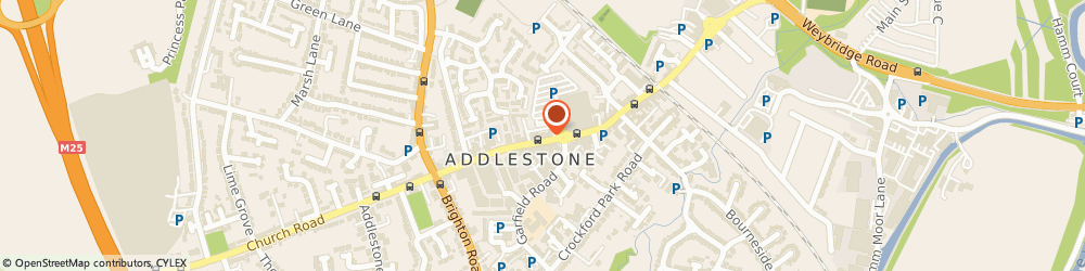 Route/map/directions to Bamboo Flowers Ltd, KT15 2AR Addlestone, 87-89 Station Rd