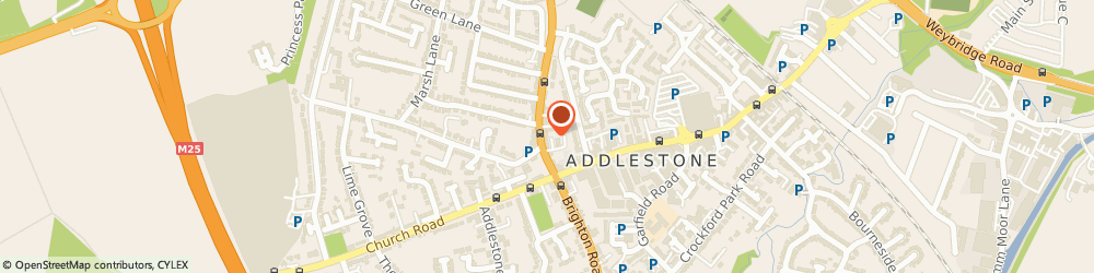 Route/map/directions to Bloo House Limited, KT15 1TN Addlestone, LYNDALE HOUSE, 24A HIGH STREET