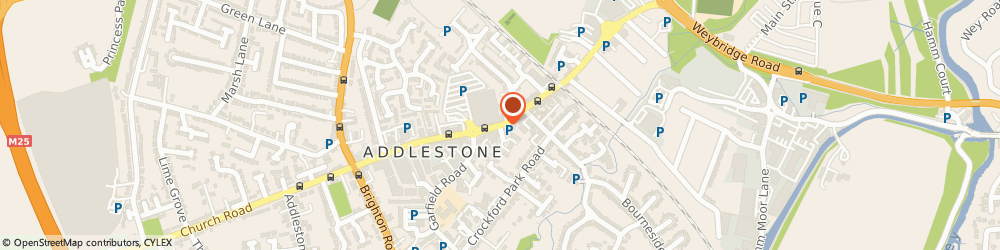 Route/map/directions to Timpson, KT15 2AS Addlestone, 117 Station Road Addlestone Surrey