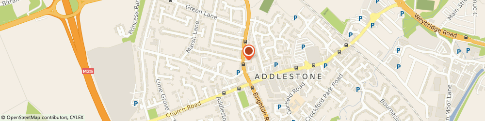 Route/map/directions to Kitchen Appliance Spares, KT15 1TN Addlestone, 28A, High St