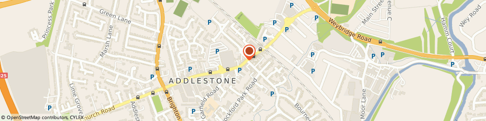 Route/map/directions to Mystica Indian Restaurant, KT15 2AT Addlestone, 147-149 Station Road