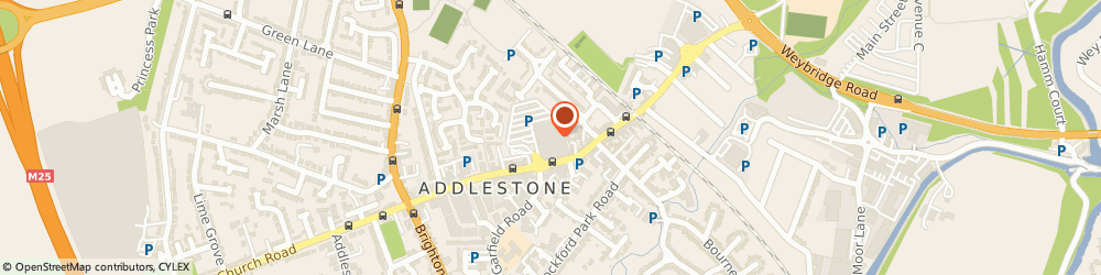 Route/map/directions to Tesco Petrol Filling Station, KT15 2AS Addlestone, 117 Station Road