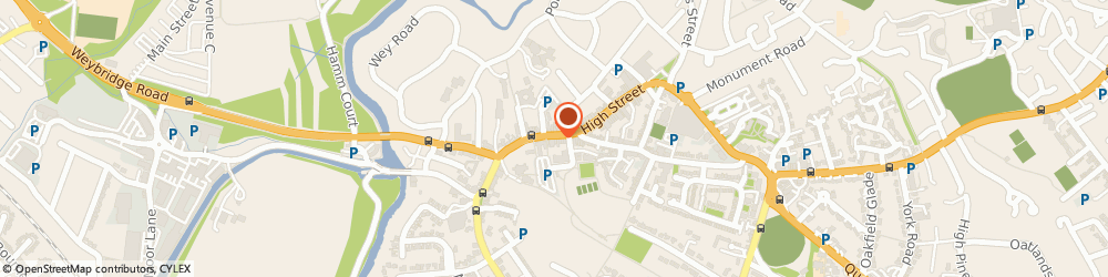 Route/map/directions to Ponds & Patios UK, KT13 8NA Weybridge, 632 Wey House