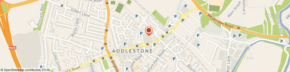 Route/map/directions to Vision Express Opticians at Tesco - Addlestone, KT15 2AS Addlestone, Tesco, 117 Station Road