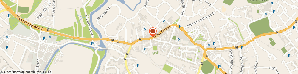Route/map/directions to Pilatesworks, KT13 8DX Weybridge, 10 Church St