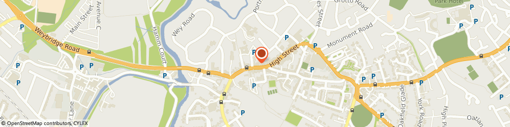 Route/map/directions to The Pharmacy, KT13 8DX Weybridge, 20 Church Street